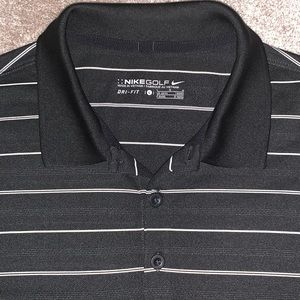 EUC Nike Golf Striped Dri Fit Polo Size Large